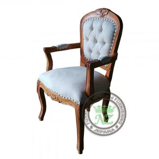 Antique Rose Carved Arm Chair
