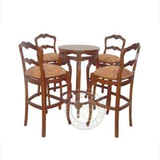 Indonesia Antique Dining Set Bar Table