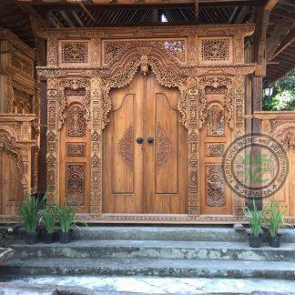 Pusat jual Gebyok 2 Door Carved