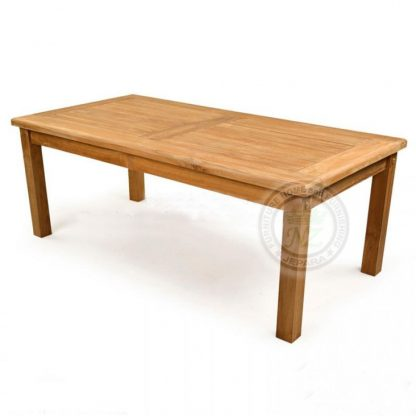 Teak Outdoor Sulton Rectangular Dining Table Jepara