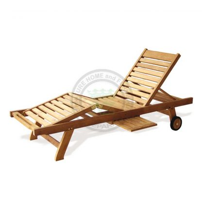 Teak Patio Sun Lounger Luxury