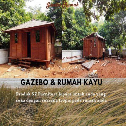 ubus minimalist wooden house patio