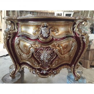 Carved Luxury French Style Nightstand