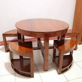 minimalist round dining table