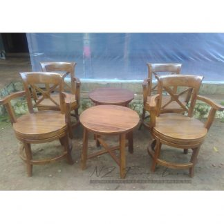 Swivel Patio Chair Set