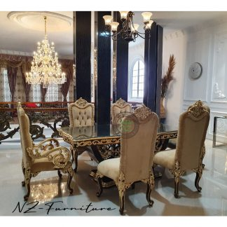Luxurious Carved Dining Table Sets
