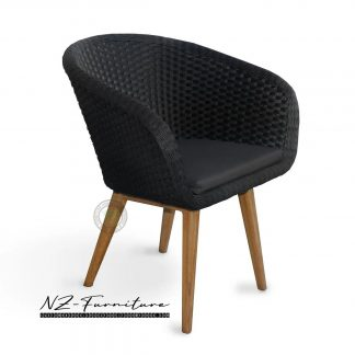 synthetic rattan dining chairs