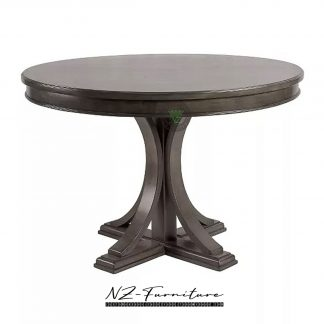 Round Dining Table Grey