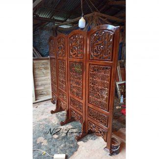 Room Divider 4 Wood Panels