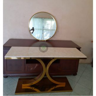 Gold Stainless Console Tables