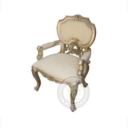 Antique Silver Leaf Dania Arm Chair