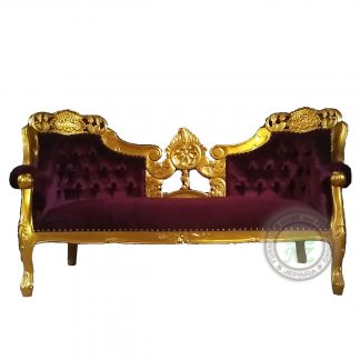 Classic French Provincial Single Sofa Gold Carving