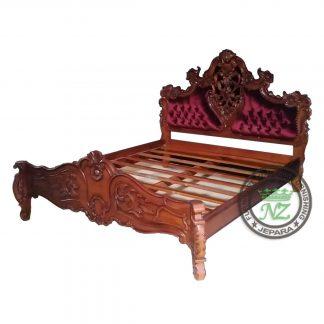Jepara Bedroom Furniture Mahogany Carved