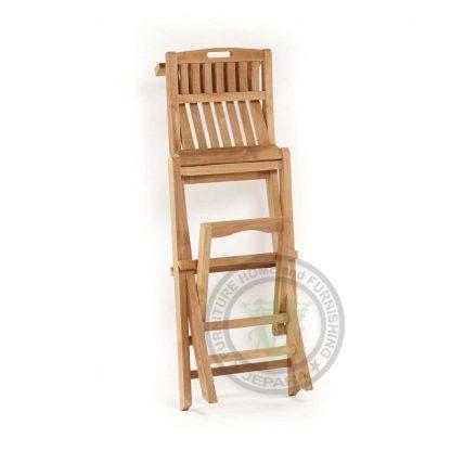 Teak Garden Folding Chair Jepara