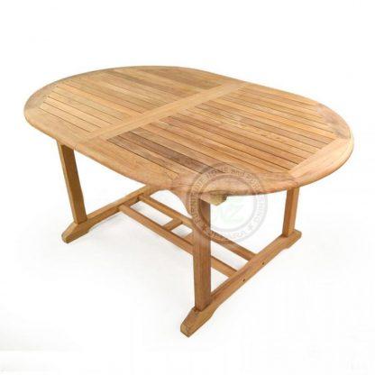 Teak Garden Ocean Oval Dining Table Indonesia