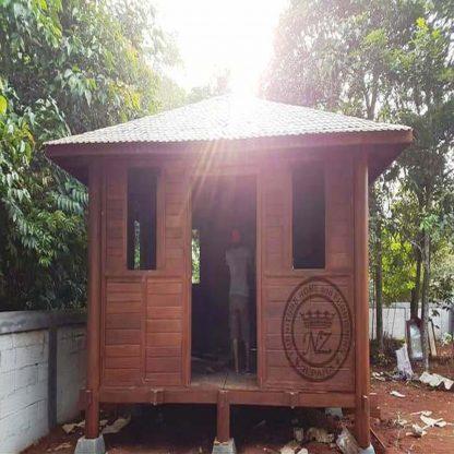 Kubus minimalist Wooden House Patio
