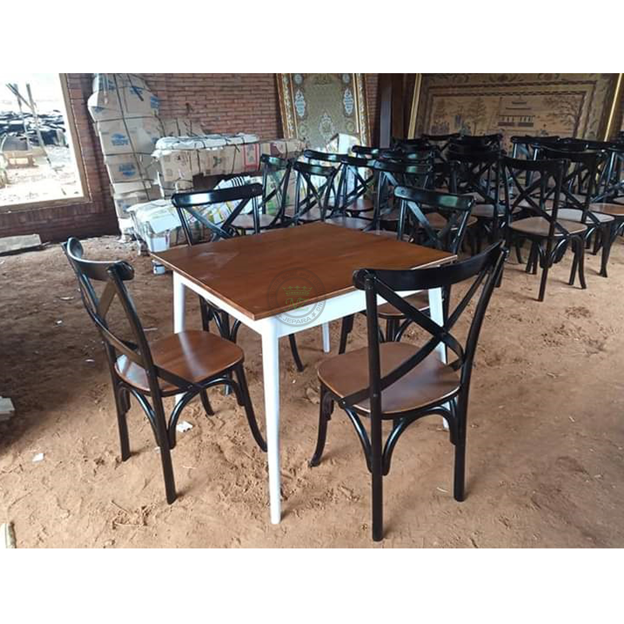 Inexpensive Cafe Table And Chair Furniture Manufacturer Indonesia