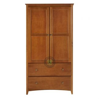 Teak Wardrobe with 2 Doors and 2 Drawers