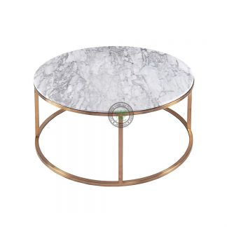 Marble Top Industrial Coffee Tables