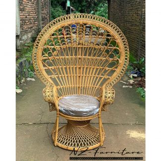 Antique Rattan Peacock Wicker Chair