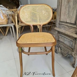 Natural Wicker Bistro Cafe Chairs