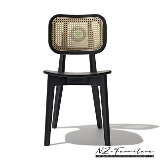 Rattan Woven Teak Dining Chair