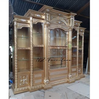 golden display cabinets