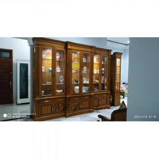 Lighted Display Cabinet 6 Teak Doors