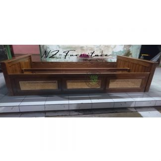 Simple Bed with Rattan Drawer